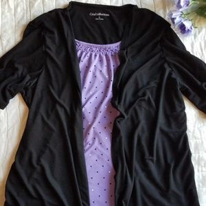 EUC Croft and Barrow 2 in 1 Layered Look Top L